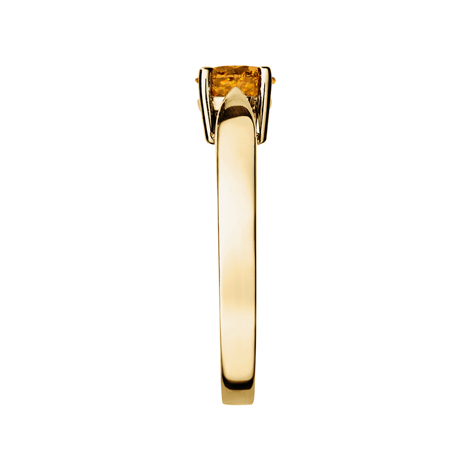 Vancouver Madeira Citrine orange in Yellow Gold