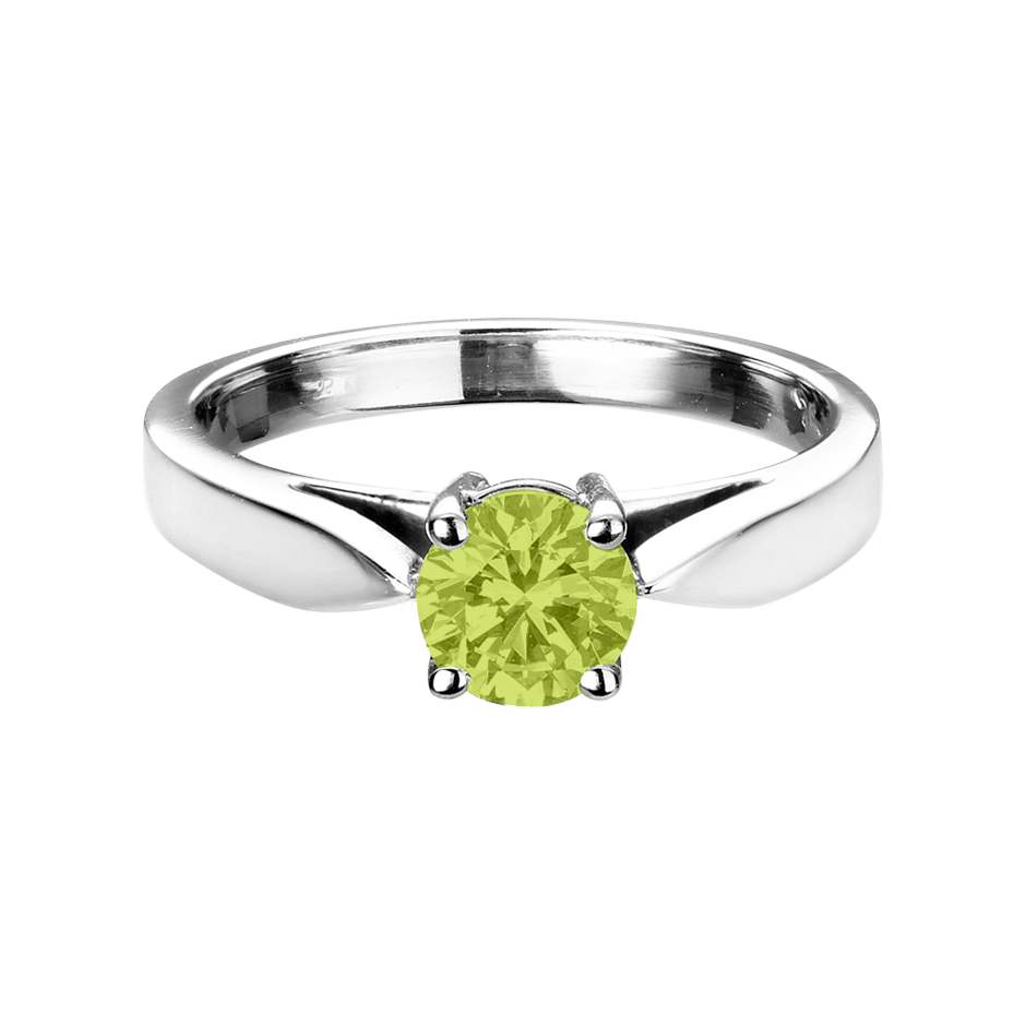 Vancouver Peridot green in Platinum