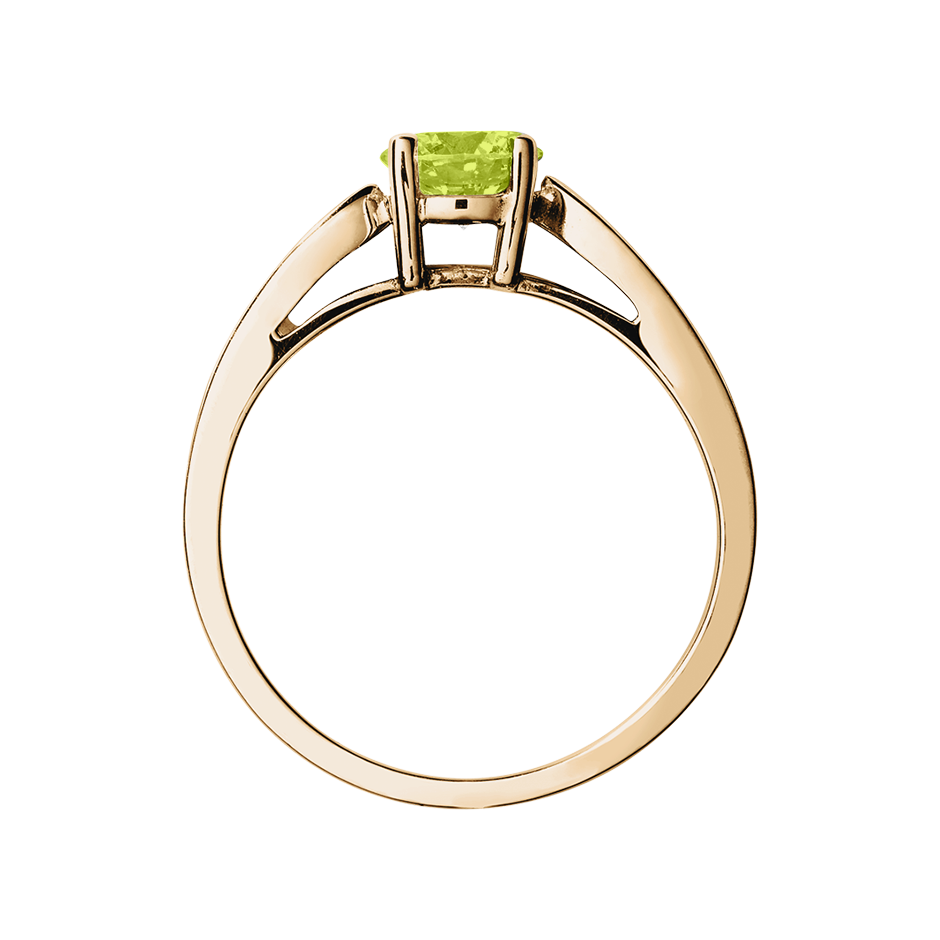 Vancouver Peridot green in Rose Gold