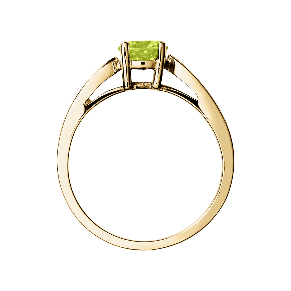 Vancouver Peridot green in Yellow Gold