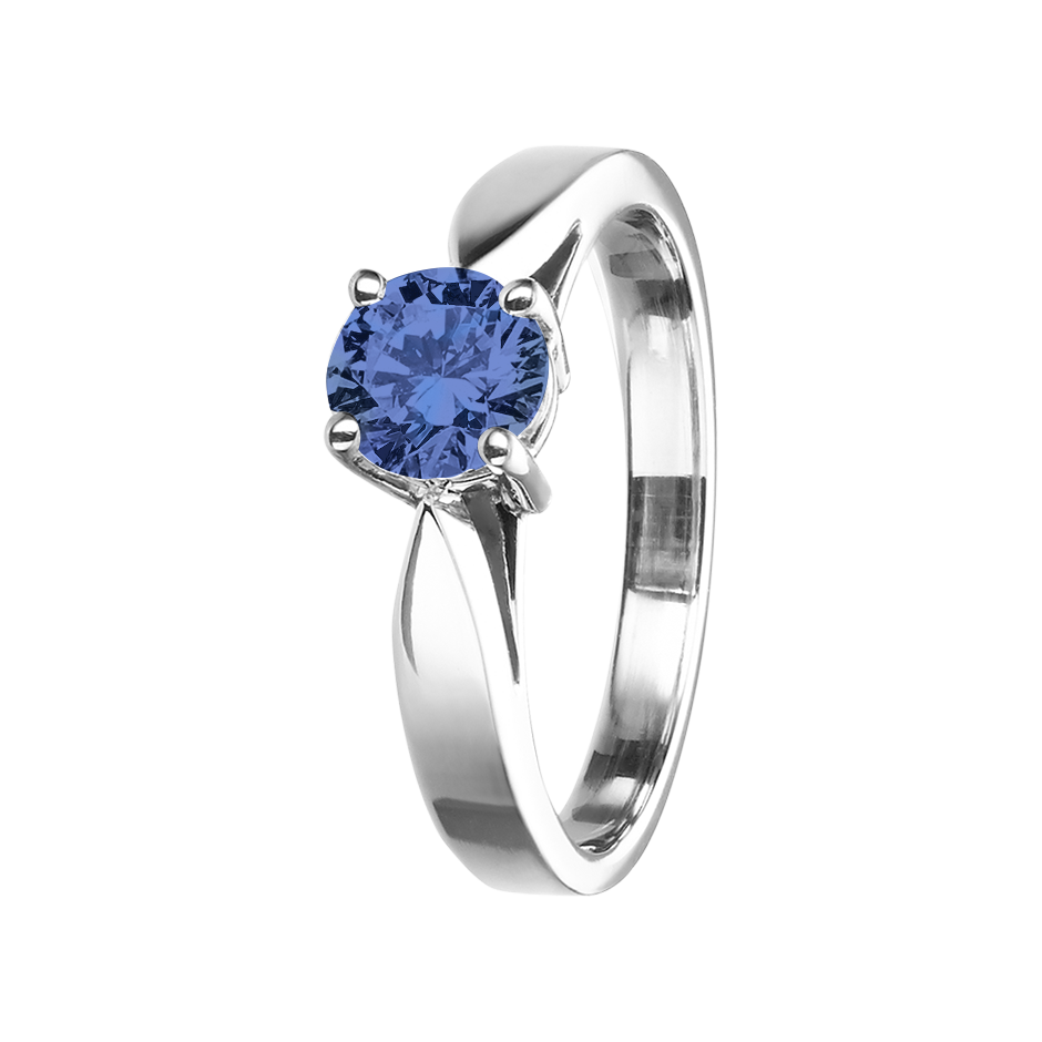 Vancouver Tanzanite blue in White Gold