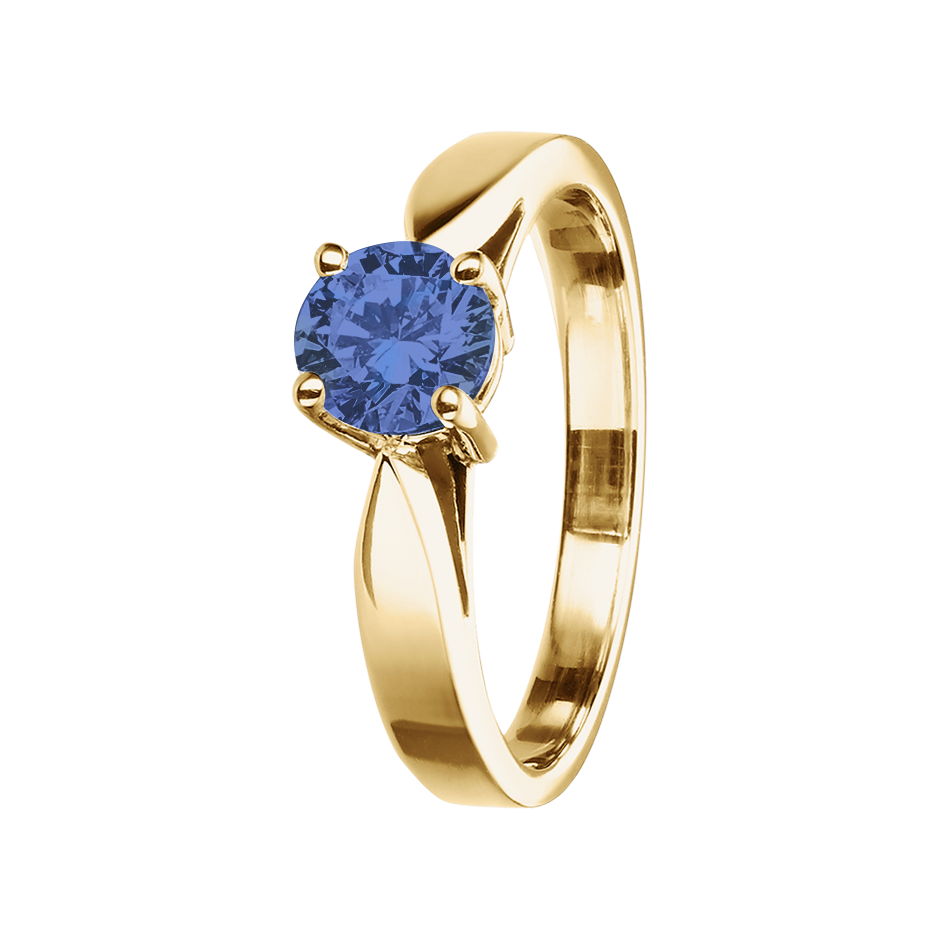 Vancouver Tanzanite blue in Yellow Gold