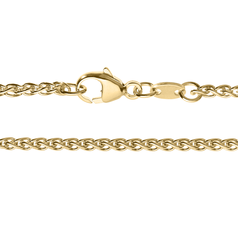 Wheat Chain Necklace in Yellow Gold